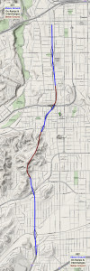 710 Extension Map through El Sereno, South Pasadena and Pasadena