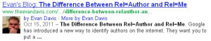 Google Authorship result.