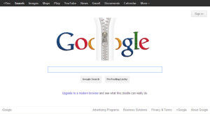 Google Zipper Doodle insults Internet Explorer
