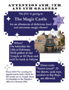 Magic Castle Flyer
