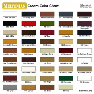 Meltonian Color Chart