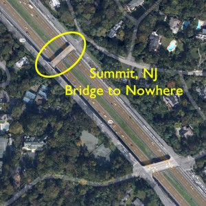 Summit, NJ Bridge to Nowhere