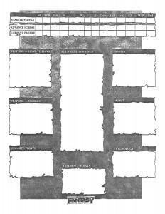 Warhammer Character Sheet Page 2