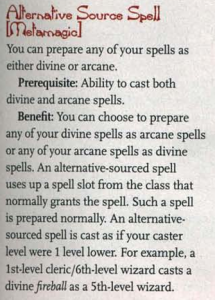 Alternative Source Spell