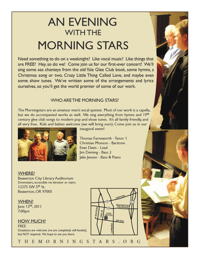 The Morning Stars Concer June 11th, 2011